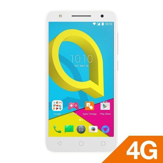 Alcatel U5 White Locked + استرد 500 جنية