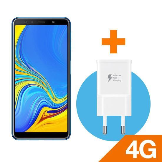 SAMSUNG GALAXY A7 2018 BLUE + Samsung White Fast Home Charger