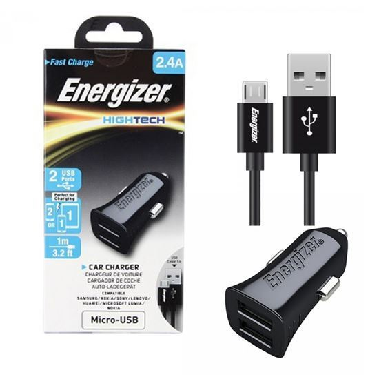 Energizer High Tech Car Charger 2 USB MICRO 2.4 A